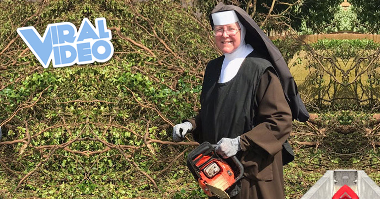 Viral Video: Chainsaw-Wielding Nun Cleans Up After Hurricane